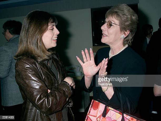 Nancy Abraham VP Original Programminng for HBO on left and Ann Whitney the film makers mother at a screening of 'Just Melvin Just Evil' a documentary...