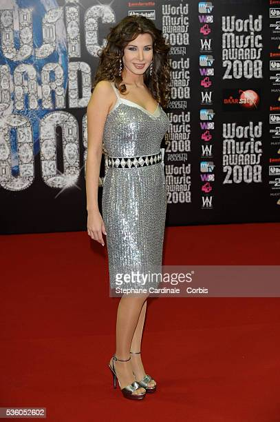 Nancy Ajram arrives at the 2008 World Music Awards in Monte Carlo