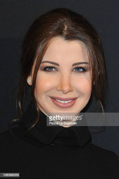 Nancy Ajram arrives at the Elie Saab show as part of the Paris Haute Couture Fashion Week Spring/Summer 2011 at Palais de Chaillot on January 26 2011...