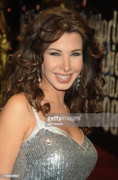Nancy Ajram arrives at the World Music Awards 2008 at the Monte Carlo Sporting Club on November 9 2008 in Monte Carlo Monaco