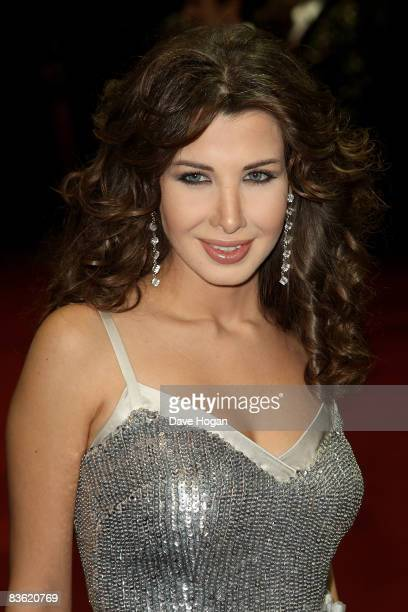 Nancy Ajram arrives at the World Music Awards held at the Sporting Club on November 9 2008 in Monte Carlo Monaco