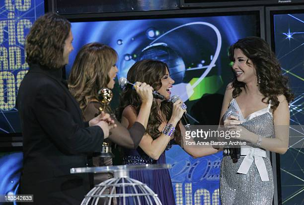 Nancy Ajram performs at the World Music Awards 2008 at the Monte Carlo Sporting Club on November 9 2008 in Monte Carlo Monaco