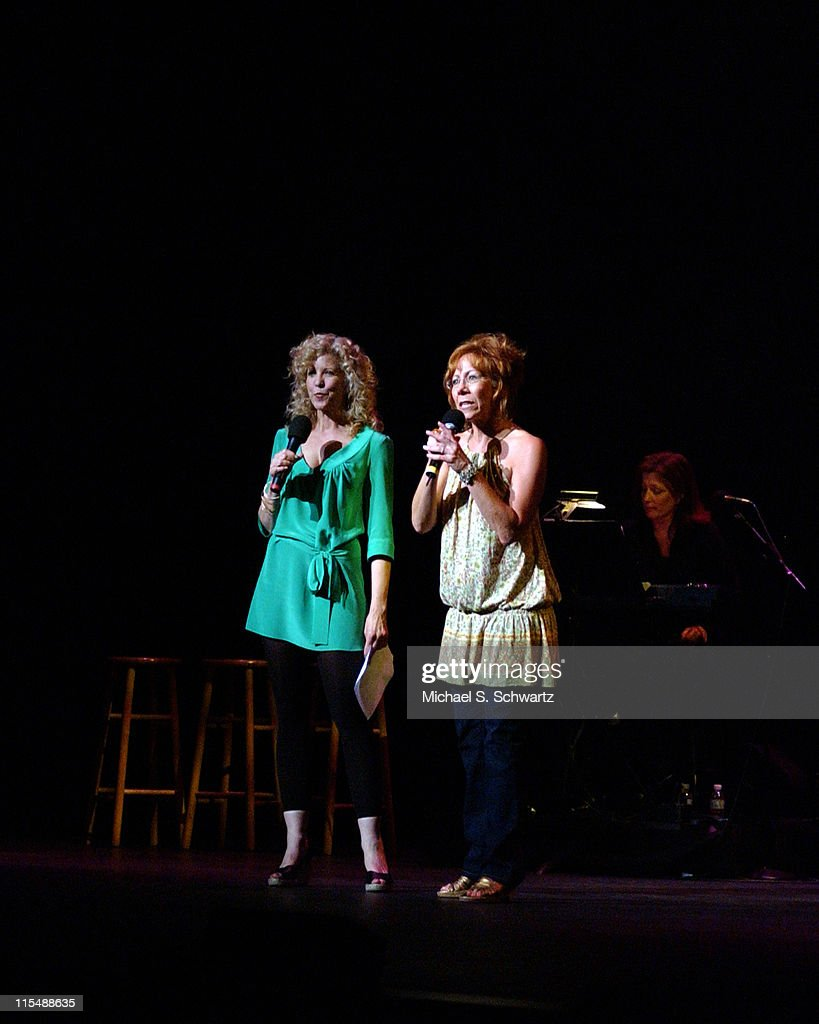 Nancy Allen and Mindy Sterling during 'weSparkle, Take VI Comedy Tonight' Honoring Jonathan Winters at The Alex Theatre in Glendale, California, United States.