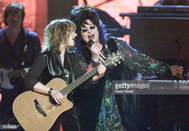 Nancy and Ann Wilson of Heart perform live at 'Women Rock!: Girls & Guitars' at the Wiltern Theater, Los Angeles, Ca. 10/12/00. The concert was held...