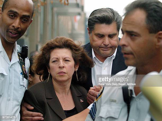 Nancy and Michael Fisher leave Brooklyn Supreme Court after Antonio Russo one of two men who were tried for killing their son Mark Fisher was...
