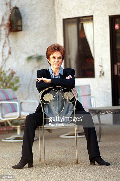 Nancy Aniston estranged mother of Jennifer Aniston photographed at her friend's house December 17 1999 in the San Fernando Valley of California Nancy...