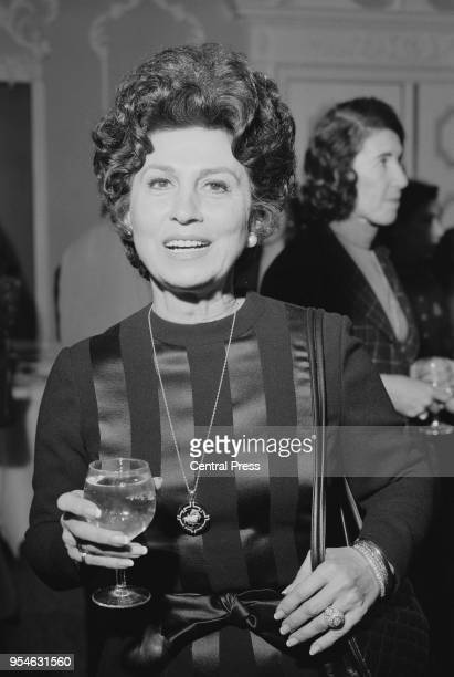 Nancy Barbato the first wife of Frank Sinatra and mother of Nancy Sinatra attends the reception of the Royal Film Performance of 1973 at the...