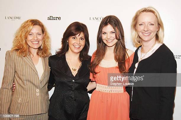 Nancy Berger Cardone, VP Publisher, Allure Magazine, Nina White, Senior VP of Marketing for Lancome, Ginnifer Goodwin and Linda Wells, Allure...
