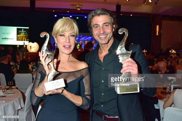 Nancy Brilli and Daniele Liotti attend the Notte Delle Stelle - Premio Bacco At Hotel Maritim During 67th International Film Festival Berlinale on...