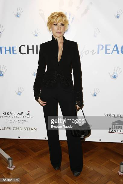 Nancy Brilli arrives for the Children for Peace Gala Dinner at Cardinal Gallery on December 2 2017 in Rome Italy