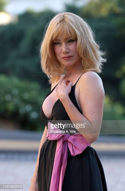 Nancy Brilli attends 59th edition of the Globi D'Oro 2019 awards ceremony on June 19, 2019 in Rome, Italy.