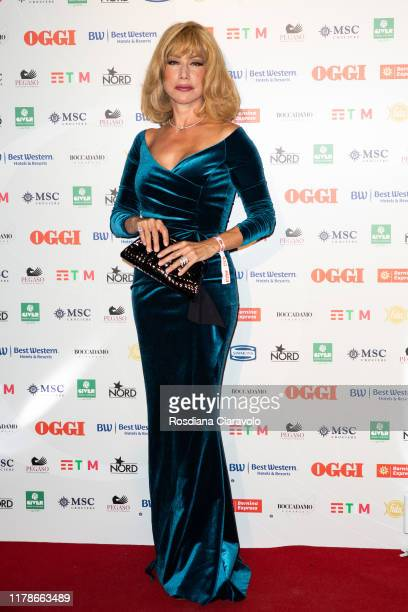 Nancy Brilli attends the celebrations of the 80 years of the Oggi magazine at Hotel Principe di Savoia on October 02, 2019 in Milan, Italy.