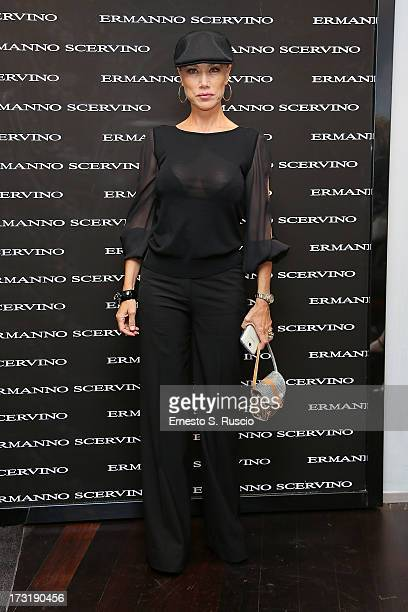 Nancy Brilli attends the Ermanno Scervino Store Opening as a part of AltaRoma AltaModa on July 9 2013 in Rome Italy