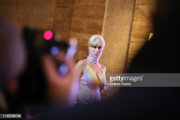 Nancy Brilli attends the Gala Rendez Vous at Palazzo Farnese on April 03 2019 in Rome Italy
