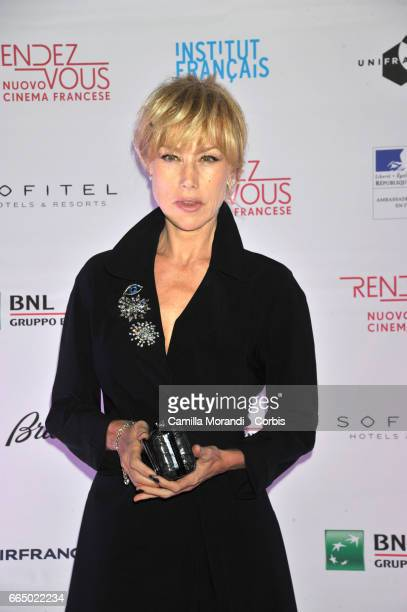 Nancy Brilli attends the 'RendezVous Nouveau Cinema Francais' Opening Ceremony In Romeon April 5 2017 in Rome Italy