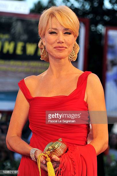 "Nancy Brilli attends the ""Somewhere"" premiere during the 67th Venice Film Festival at the Sala Grande Palazzo Del Cinema on September 3, 2010 in..."