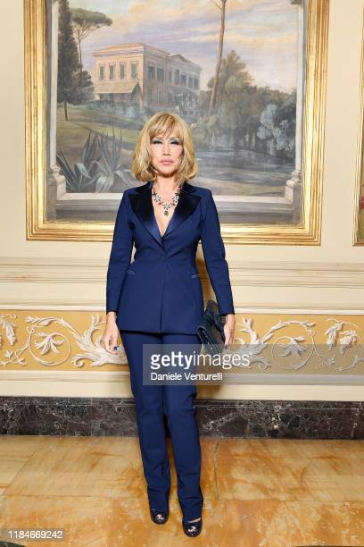 Nancy Brilli attends the Telethon dinner during the 14th Rome Film Festival on October 22 2019 in Rome Italy