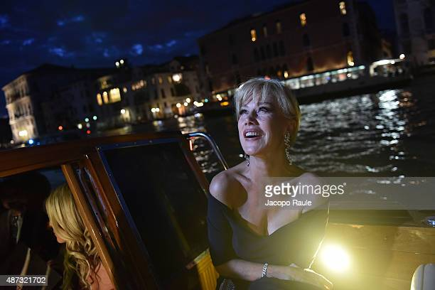 Nancy Brilli is seen during the 72nd Venice Film Festival on September 8, 2015 in Venice, Italy.