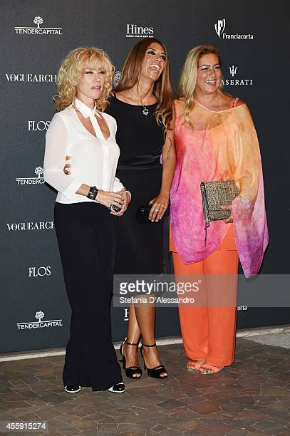 Nancy Brilli Lavinia Biagiotti and Romina Power attend Vogue Italia 50th Anniversary Event on September 21 2014 in Milan Italy