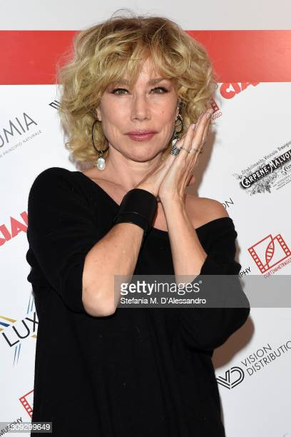 Nancy Brilli poses during Cortinametraggio Short Film Festival 2021 at Parc Hotel Victoria on March 27, 2021 in Cortina d'Ampezzo, Italy.