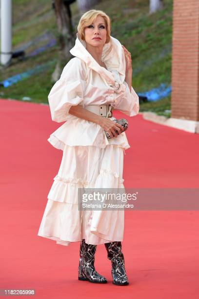 Nancy Brilli walks a red carpet during the 14th Rome Film Festival on October 19 2019 in Rome Italy