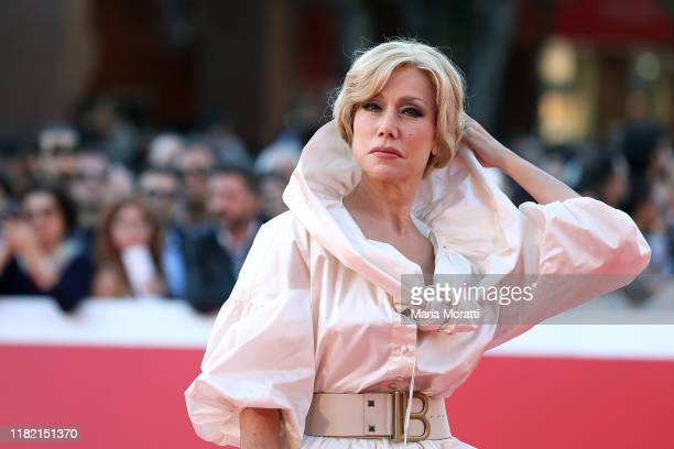 Nancy Brilli walks the red carpet during the 14th Rome Film Festival on October 19, 2019 in Rome, Italy.