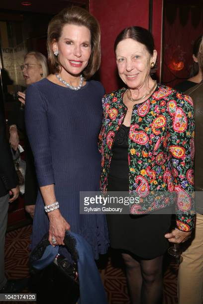 Nancy Brinker and Elizabeth Hardwick attend David Patrick Columbia And Chris Meigher Toast The QUEST 400 At DOUBLES on September 27 2018 in New York...