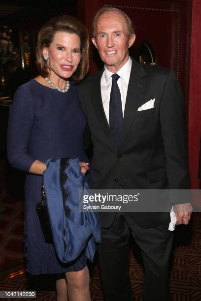 Nancy Brinker and Mark Gilbertson attend David Patrick Columbia And Chris Meigher Toast The QUEST 400 At DOUBLES on September 27 2018 in New York City