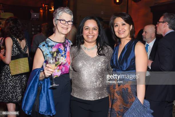 Nancy Cameron Anita Gupta and Joan Maniego attend Tisch School Gala 2017 at Cipriani 42nd Street on April 3 2017 in New York City