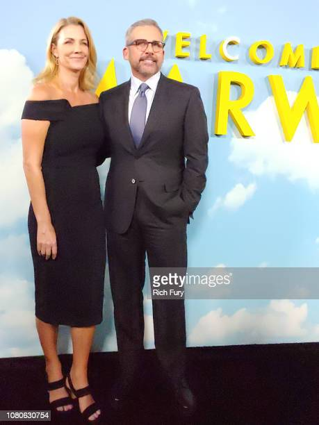 Nancy Carell and Steve Carell attend Universal Pictures and DreamWorks Pictures' premiere of 'Welcome To Marwen' at ArcLight Hollywood on December...