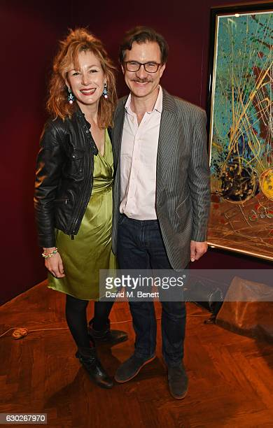 Nancy Carroll and Jo StoneFewings attend the press night after party for the Donmar's Saint Joan at The Hospital Club on December 19 2016 in London...