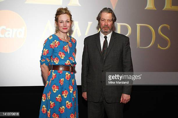 Nancy Carroll and Roger Allam attend the Olivier Awards at May Fair Hotel on March 15 2012 in London England