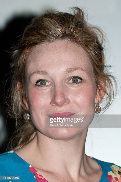 Nancy Carroll announces the actors directors and productions up for the Laurence Olivier Awards at May Fair Hotel on March 15 2012 in London England...