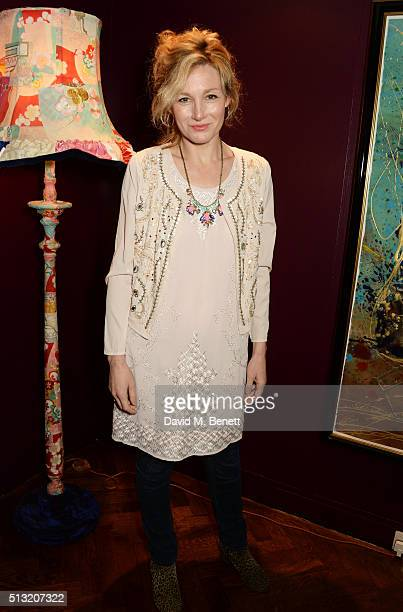 Nancy Carroll attends the press night after party for The Donmar's production of Welcome Home Captain Fox at The Hospital Club on March 1 2016 in...