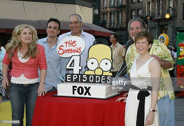 Nancy Cartwright Hank Azaria Matt Groening creator and Yeardley Smith