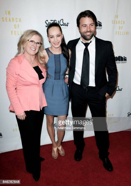 Nancy Cartwright Ksenia Solo and Taron Lexton attend a screening of 'In Search Of Fellini' at Laemmle Monica Film Center on September 12 2017 in...