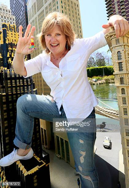 Nancy Cartwright who does the voice of Bart Simpson on The Simpsons on a visit to Legoland California on Sunday April 27 2014 in Carlsbad California
