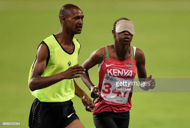 Nancy Chelangat Koech of Kenya competes in 1500m Women's final race during the 9th Fazza International IPC Athletics Grand Prix Competition World...