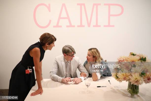 Nancy Chilton Andrew Bolton and Hildy Kuryk attend the Camp Notes on Fashion exhibition catalogue signing at Metropolitan Museum of Art on September...