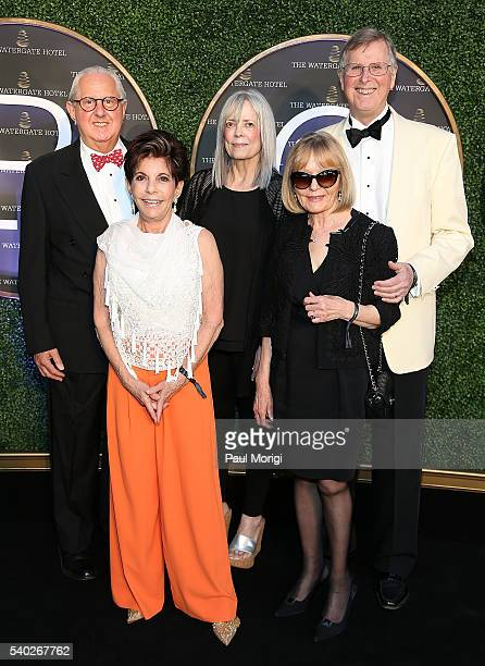 Nancy Conrad and friends at the grand reopening party of the iconic Watergate Hotel on June 14 2016 in Washington DC