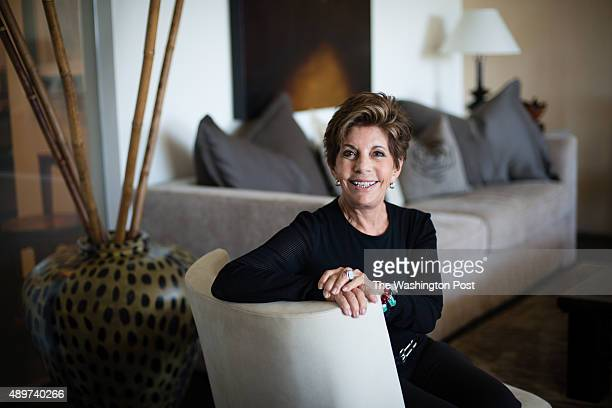 Nancy Conrad sits in the living room of her extensively renovated condo in the Watergate building on August 22 2015