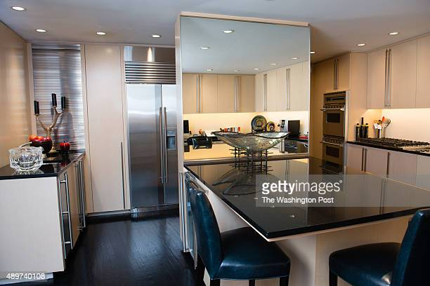 Nancy Conrad's extensively renovated condo in the Watergate building is pictured on August 22 2015 The kitchen is pictured
