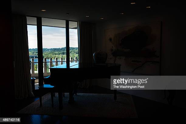 Nancy Conrad's extensively renovated condo in the Watergate building is pictured on August 22 2015 The view is seen from her living area