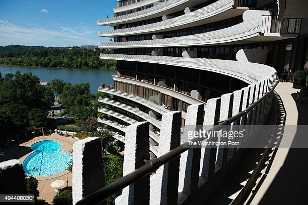 Nancy Conrad's extensively renovated condo in the Watergate building is pictured on August 22 2015 The large deck enjoys great views of The Kennedy...