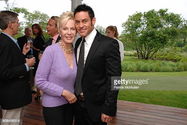 Nancy Corzine and Matthew Abraham attend Cocktails in honor of Princess Yasmin Aga Khan hosted by Nancy Corzine Mark Locks and Dennis Basso with...