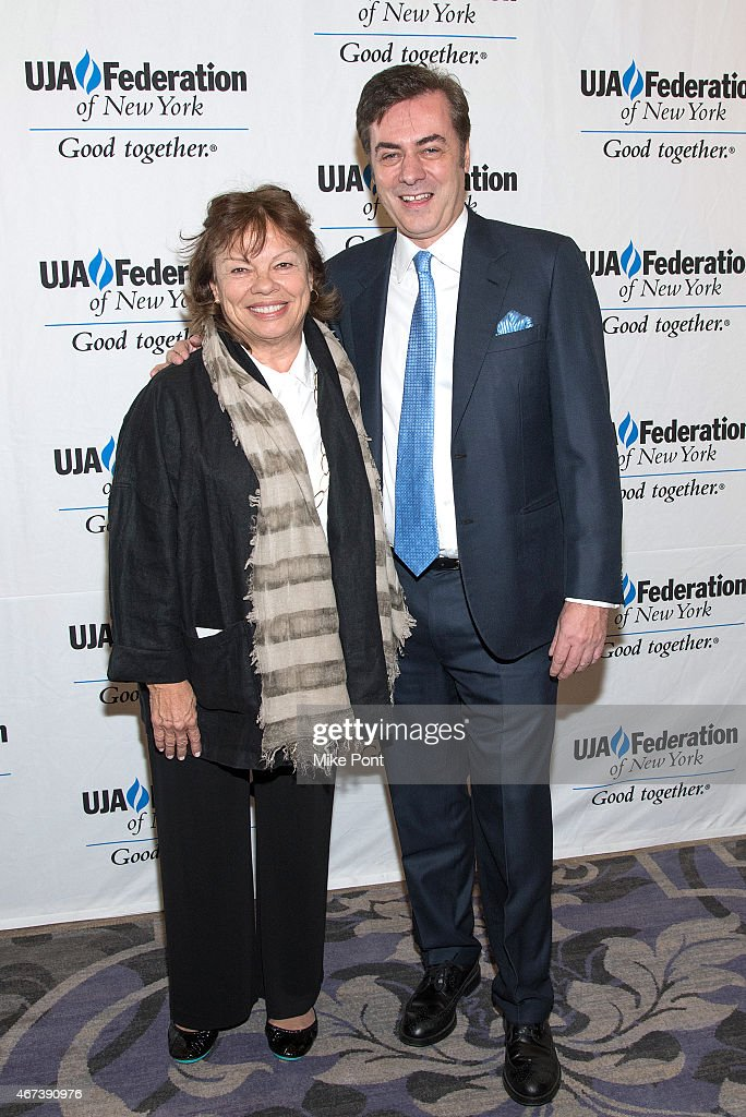 Nancy Coyne and Key Brand Entertainment owner and CEO John Gore attend the 2015 UJA Federation Of New York Excellence In Theater Award Dinner at The St Regis New York on March 23, 2015 in New York City.