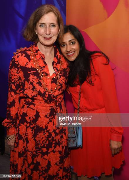 Nancy Crane and Manjinder Virk attend the press night after party for Dance Nation at The Almeida Theatre on September 4 2018 in London England