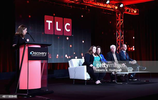 Nancy Daniels General Manager TLC Whitney Thore Founder of No Body Shame Campaign Barbara Thore Glenn Thore and Tal Fish speak onstage during TCL's...