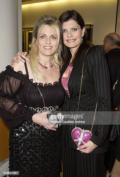 Nancy Davis and Pam McMahon during Peace and Love Jewelry by Nancy Davis Launch Party at Saks Fifth Avenue in Beverly Hills California United States