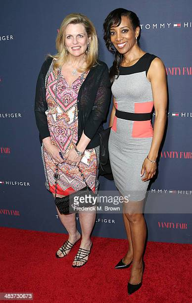 Nancy Davis and television reporter Shaun Robinson attend Zooey Deschanel and Tommy Hilfiger Debut New Capsule Collection at The London Hotel on...